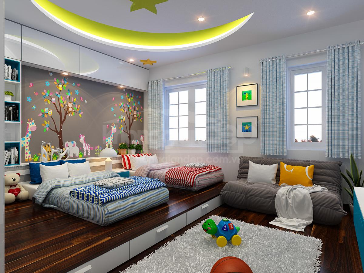 Thiết kế phòng ngủ đôi cho bé - Nội Thất Minh Đức